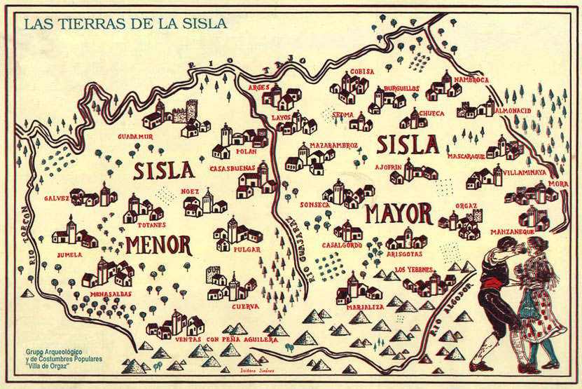 Mapa de la Sisla